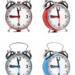 Colorful Old Style Alarm Clocks. — Stock Photo #58494161