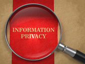 Information Privacy through Magnifying Glass. — Stock Photo