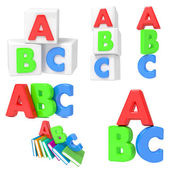 ABC Concets on White Background. — Stock Photo