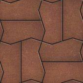 Brown Brick Pavers. Seamless Texture. — 图库照片