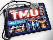 TMD Diagnosis on the Display of Medical Tablet. — Stock Photo