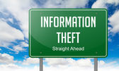Information Theft on Highway Signpost. — Stock fotografie