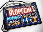 Alopecia Diagnosis on the Display of Medical Tablet. — Stock Photo
