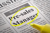 Pre-sales Manager Vacancy in Newspaper. — Stock Photo