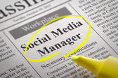 Social Media Manager Jobs in Newspaper. — Stock Photo