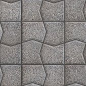 Gray Pavement with a Pattern of Cracked Squares. — Stock Photo