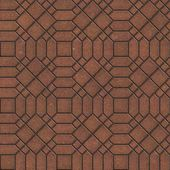 Brown Pavement with a Complicated Pattern. — Stock Photo