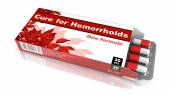 Cure For Hemorrhoids, Red Open Blister Pack. — Zdjęcie stockowe