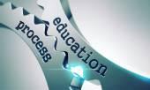 Education Process on the Cogwheels. — Stock Photo