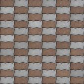 Seamless Texture of Pavement as Wavy Parallelogram. — Stock Photo