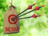 Design - Arrows Hit in Red Target. — Stockfoto
