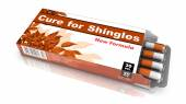 Cure For Shingles, Gray Open Blister Pack. — Stock Photo