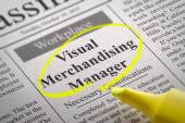 Visual Merchandising Manager Jobs in Newspaper. — Stock Photo