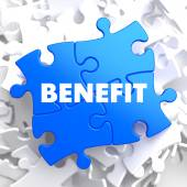 Benefit on Blue Puzzle. — Stock Photo