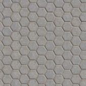 Grey Figured Pavement with Honeycombs. — Stock Photo