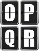 Letters O P Q R on Mechanical Scoreboard. — Stock Photo