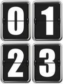 Digits 0, 1, 2, 3 on Mechanical Scoreboard. — Stock Photo