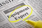 Equipment Expert Jobs in Newspaper. — Zdjęcie stockowe
