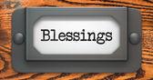 Blessing Inscription on Label Holder. — Stock Photo
