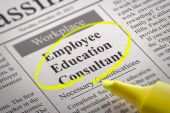 Employee Education Consultant Vacancy in Newspaper. — Stock Photo