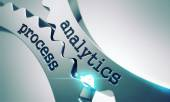 Analytics Process Concept on the Gears. — Stock Photo