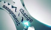 Change Management Concept on the Gears. — Stock Photo