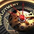 Employment on Black-Golden Watch Face. — Stock Photo #62536081