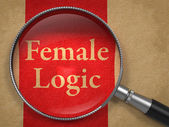 Female Logic through Magnifying Glass. — Stock Photo