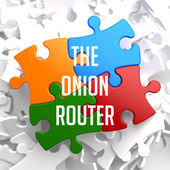The Onion Router on Variegated Puzzle. — Stock Photo