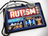 Autism on the Display of Medical Tablet. — Stock Photo