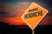 Headache on Warning Road Sign. — Foto Stock