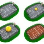 Set Sport Concepts. 3d Miniature. — Stock Photo #62543281