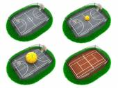 Set Sport Concepts. 3d Miniature. — Stock Photo