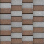 Rectangular Paving Slabs Laid as Chaotically. Seamless Texture. — Stock Photo