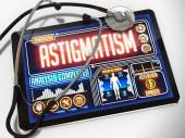 Astigmatism on the Display of Medical Tablet. — Stock Photo