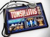 Tonsillitis on the Display of Medical Tablet. — Stock Photo