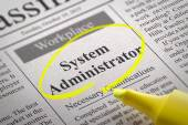 System Administrator Jobs in Newspaper. — Stock Photo