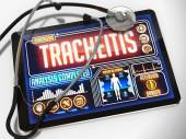 Tracheitis on the Display of Medical Tablet. — Stock Photo