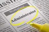 Administrator Jobs in Newspaper. — Stock Photo