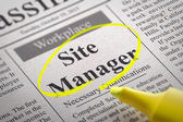 Site Manager Vacancy in Newspaper. — Stock Photo