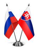 Slovakia and Russia - Miniature Flags. — Stock Photo