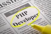 PHP Developer Vacancy in Newspaper. — Stock Photo