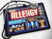 Allergy on the Display of Medical Tablet. — Stock Photo