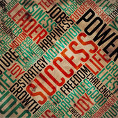 Success - Grunge Word Collage. — Stock Photo