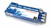 Cure for Outbreak - Blister Pack of Pills. — Stock Photo