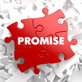 Promise on Red Puzzle. — Stock Photo