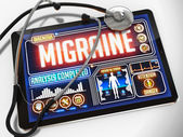 Migraine on the Display of Medical Tablet. — Fotografia Stock