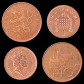 Obverse and Reverse Coin of Great Britain, Czech Republic. — Stock Photo
