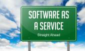 Software as a Service on Highway Signpost. — Stock Photo