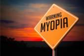 Myopia Warning Road Sign. — Stock Photo